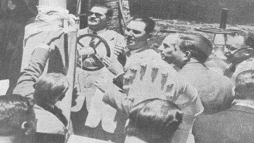 El presidente Perón en la inauguración